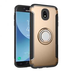 Etui na Samsung Galaxy J7 2017 - Pancerne Magnet Ring - Złoty.