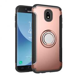 Etui na Samsung Galaxy J7 2017 - Pancerne Magnet Ring - Różowy.
