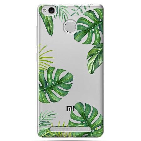 Etui na Xiaomi Redmi 3S - Egzotyczne roślina monstera.