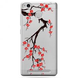 Etui na Xiaomi Redmi 3 Pro - Krzew kwitnącej wiśni.