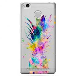 Etui na Xiaomi Redmi 3 Pro - Watercolor ananasowa eksplozja.