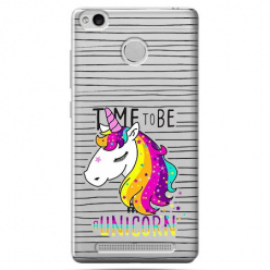 Etui na Xiaomi Redmi 3 Pro - Time to be unicorn - Jednorożec