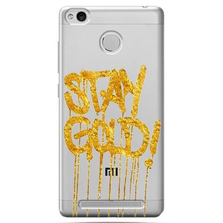 Etui na Xiaomi Redmi 3 Pro - Stay Gold.