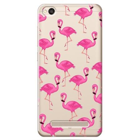 Etui na Xiaomi Redmi 4A - Różowe flamingi.
