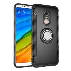 Etui na Xiaomi Redmi 5 Plus - Pancerne Magnet Ring - Czarny.