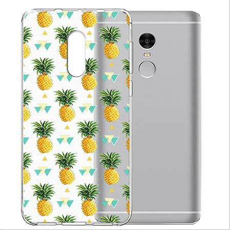 Etui na telefon Xiaomi Note 4X - Ananasowe szaleństwo.