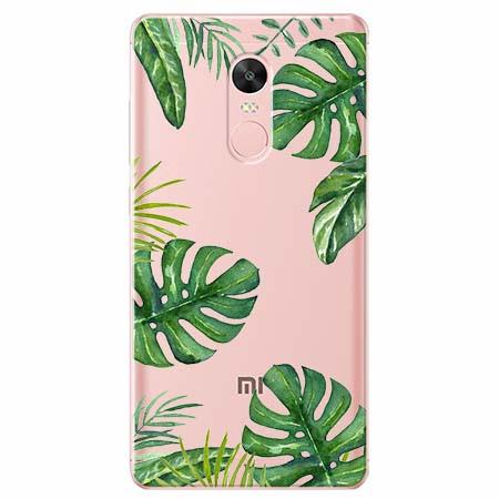 Etui na telefon Xiaomi Note 4X - Egzotyczne roślina monstera.