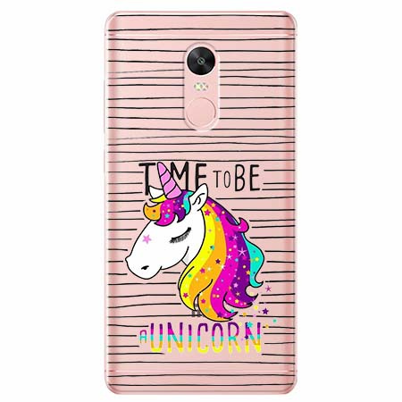 Etui na telefon Xiaomi Note 4X - Time to be unicorn - Jednorożec.