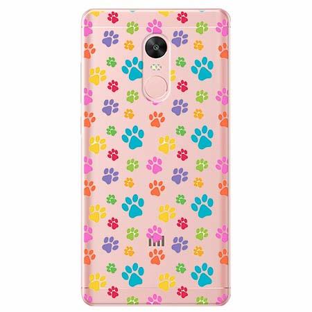 Etui na telefon Xiaomi Note 4X - Kolorowe psie łapki.