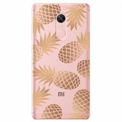 Etui na telefon Xiaomi Note 4X - Złote ananasy.
