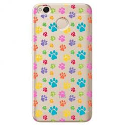 Etui na telefon Xiaomi Note 5A - Kolorowe psie łapki.
