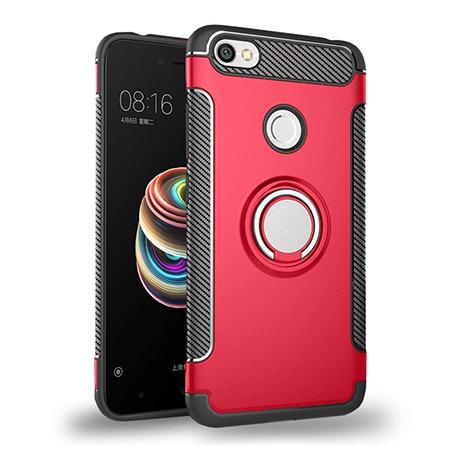 Etui na Xiaomi Redmi Note 5A Prime - Pancerne Magnet Ring - Czerwony.
