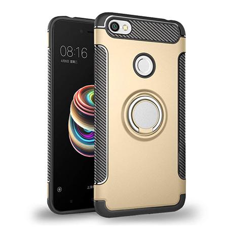 Etui na Xiaomi Redmi Note 5A Prime - Pancerne Magnet Ring - Złoty.