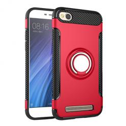 Etui na Xiaomi Redmi 4A - Pancerne Magnet Ring - Czerwony.
