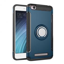Etui na Xiaomi Redmi 4A - Pancerne Magnet Ring - Niebieski stalowy.