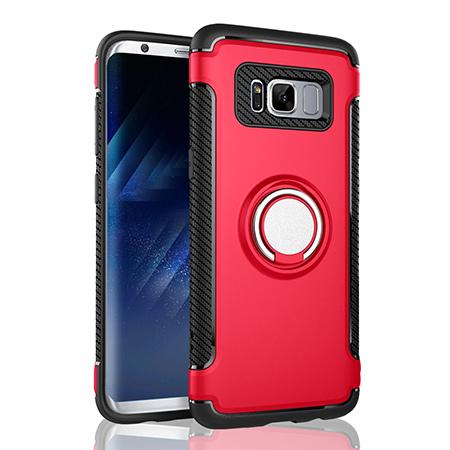 Etui na Samsung Galaxy S8 Plus - Pancerne Magnet Ring - Czerwony.