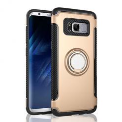 Etui na Samsung Galaxy S8 - Pancerne Magnet Ring - Złoty.