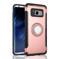 Etui na Samsung Galaxy S8 Plus - Pancerne Magnet Ring - Różowy.