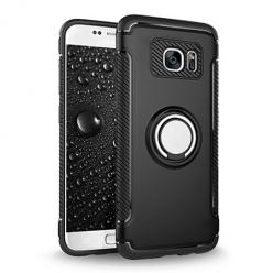 Etui na Samsung Galaxy S7 - Pancerne Magnet Ring - Czarny.