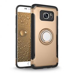 Etui na Samsung Galaxy S7 - Pancerne Magnet Ring - Złoty.