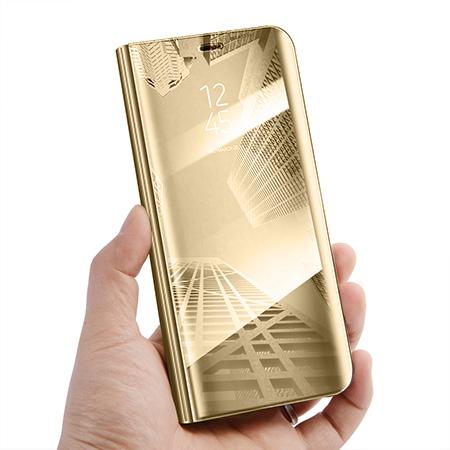 Etui na Samsung Galaxy S9 - Flip Clear View z klapką - Złoty.
