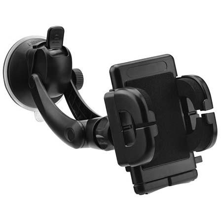 Uchwyt na telefon do samochodu Dual - czarny.