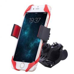 Uniwersalny uchwyt na rower do telefonu Elasto - Czerwony