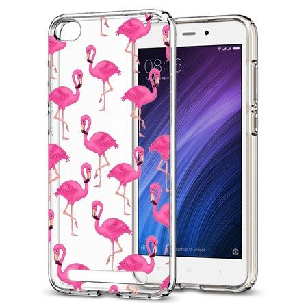 Etui na Xiaomi Redmi 5A - Różowe flamingi.
