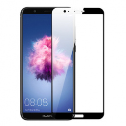 Huawei P Smart hartowane szkło 5D Full Glue - Czarny.