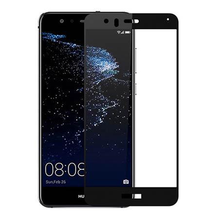 Huawei P10 Lite - hartowane szkło 5D na cały ekran - Czarny.
