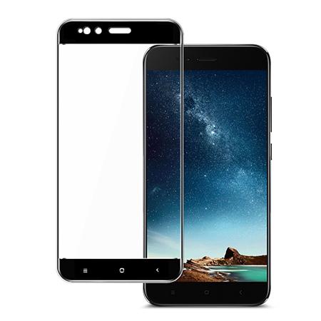Xiaomi Mi A1 - hartowane szkło 5D na cały ekran - Czarny.