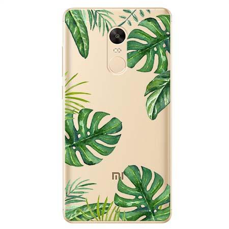 Etui na Xiaomi Redmi 5 Plus - Egzotyczne roślina monstera.