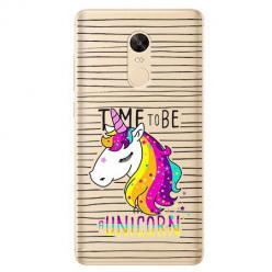 Etui na Xiaomi Redmi 5 Plus - Time to be unicorn - Jednorożec.