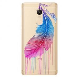 Etui na Xiaomi Redmi 5 Plus - Watercolor piórko.