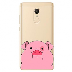 Etui na Xiaomi Redmi 5 Plus - Słodka różowa świnka.