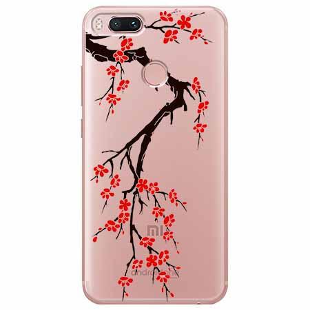 Etui na Xiaomi Mi A1 - Krzew kwitnącej wiśni.