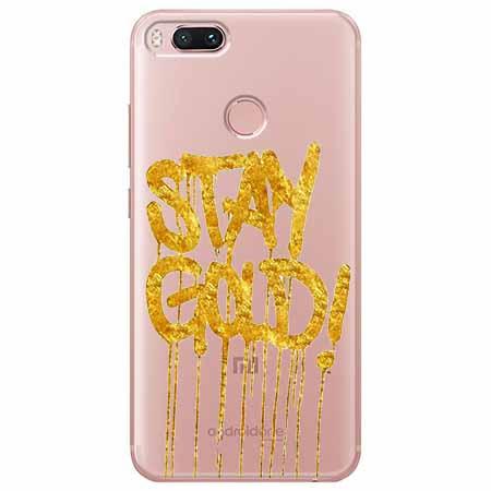 Etui na Xiaomi Mi A1 - Stay Gold.