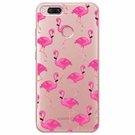 Etui na Xiaomi Mi A1 - Różowe flamingi.