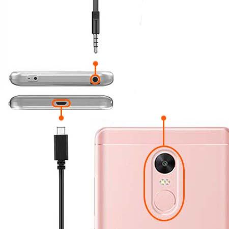 Etui na Xiaomi Note 4 Pro - Złote koniczynki.