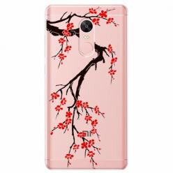 Etui na Xiaomi Note 4 Pro - Krzew kwitnącej wiśni.