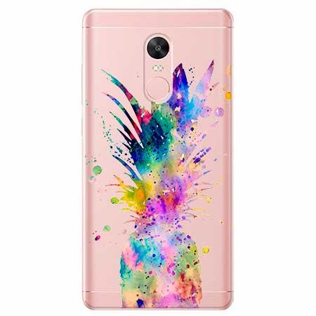 Etui na Xiaomi Note 4 Pro - Watercolor ananasowa eksplozja.