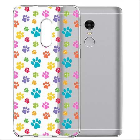 Etui na Xiaomi Note 4 Pro - Kolorowe psie łapki.