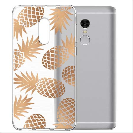 Etui na Xiaomi Note 4 Pro - Złote ananasy.