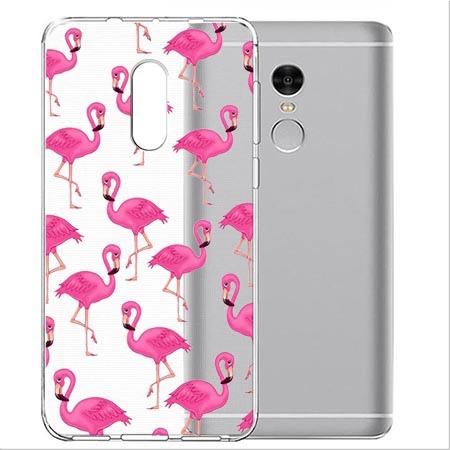 Etui na Xiaomi Note 4 Pro - Różowe flamingi.