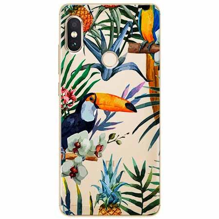 Etui na Xiaomi Note 5 Pro - Egzotyczne tukany.