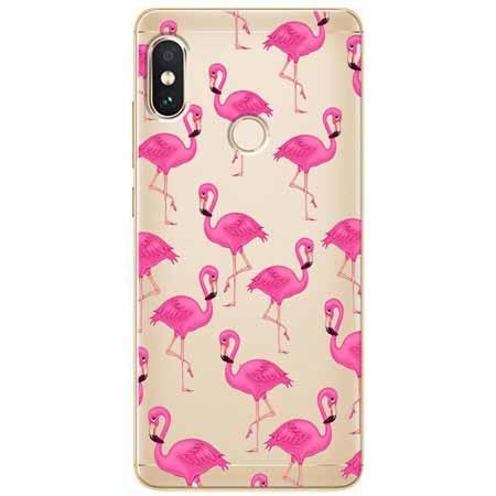 Etui na Xiaomi Note 5 Pro - Różowe flamingi.