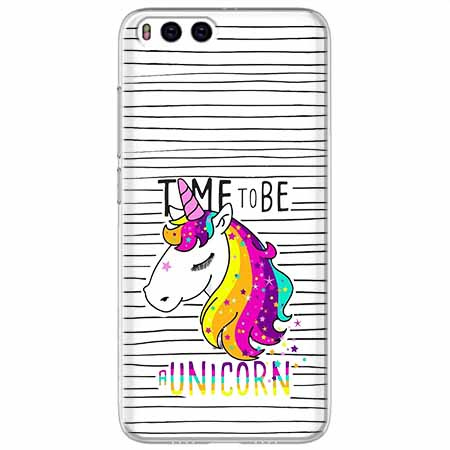Etui na Xiaomi Mi 6 - Time to be unicorn - Jednorożec.