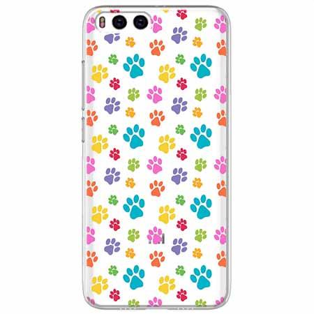 Etui na Xiaomi Mi 6 - Kolorowe psie łapki.