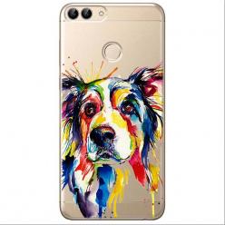 Etui na Huawei P Smart - Watercolor pies.
