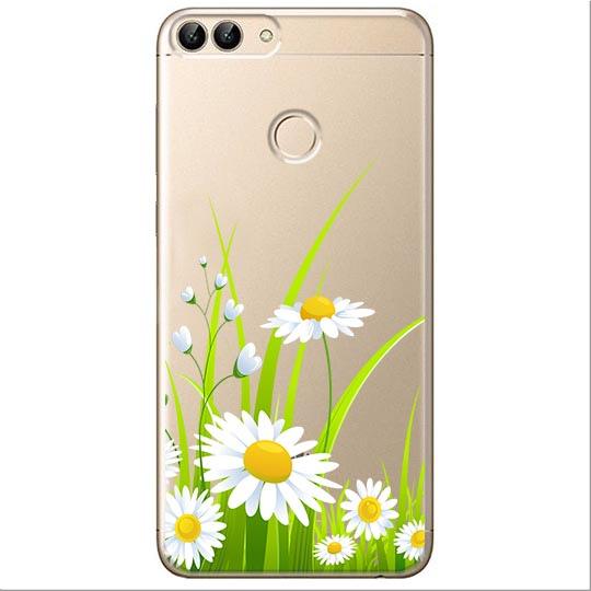 Etui na Huawei P Smart - Polne stokrotki.